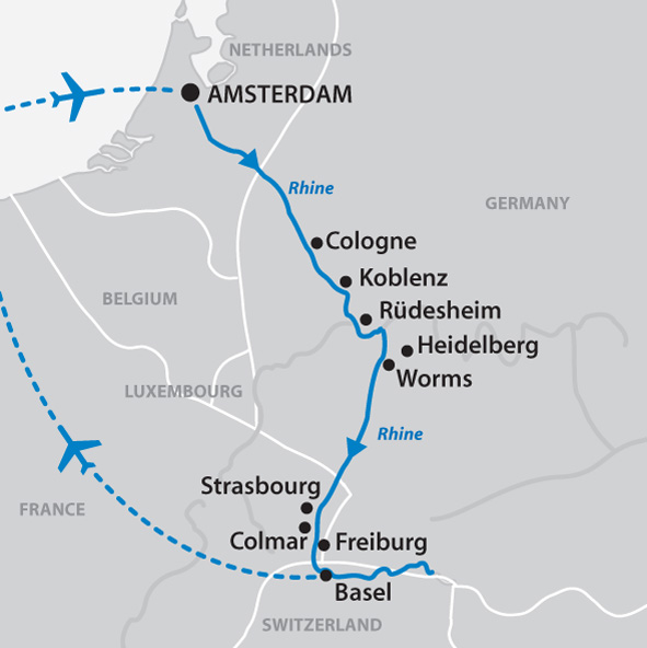 The Enchanting Rhine 12 Days Amsterdam To Zurich Or Reverse
