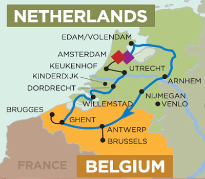 Tulip Time Cruise  7 Nights Amsterdam to Amsterdam