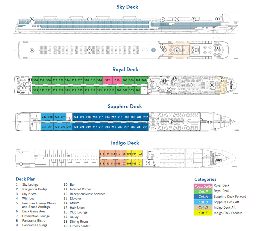 AVL Impression deck plan