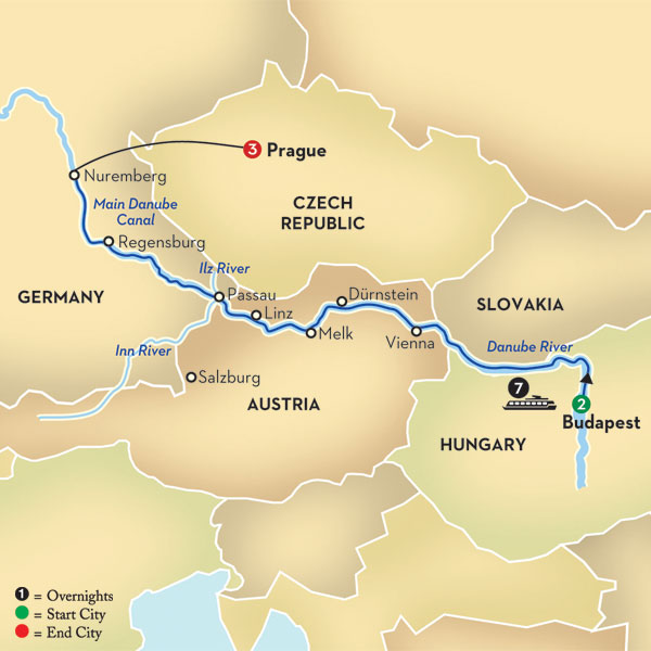Blue Danube Discovery Map