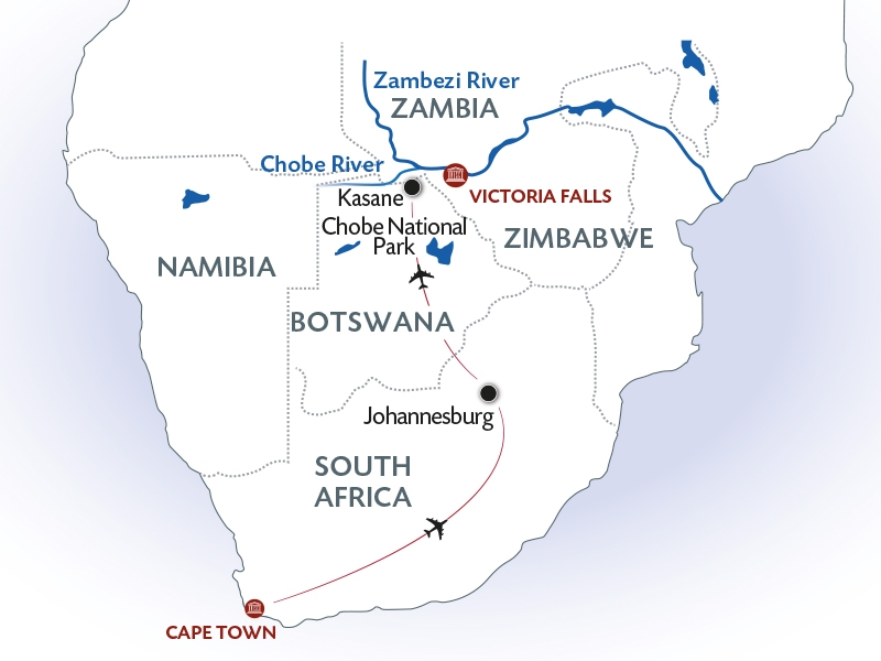 CE Africa Cruise Map