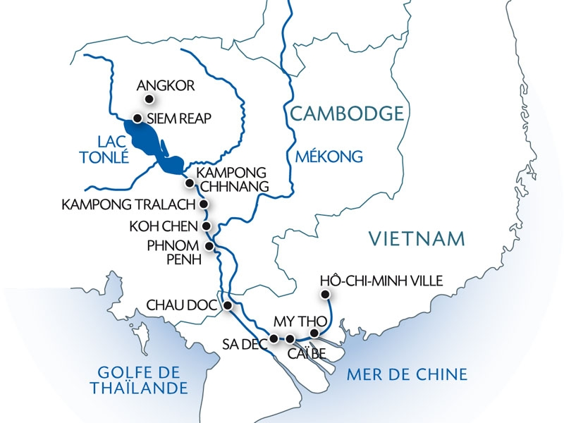 CE Mekong Cruise map