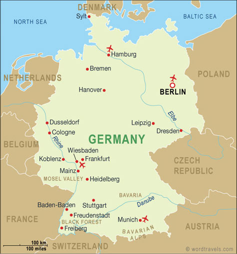 Map Of Germany Jpg.Germany Travel Links