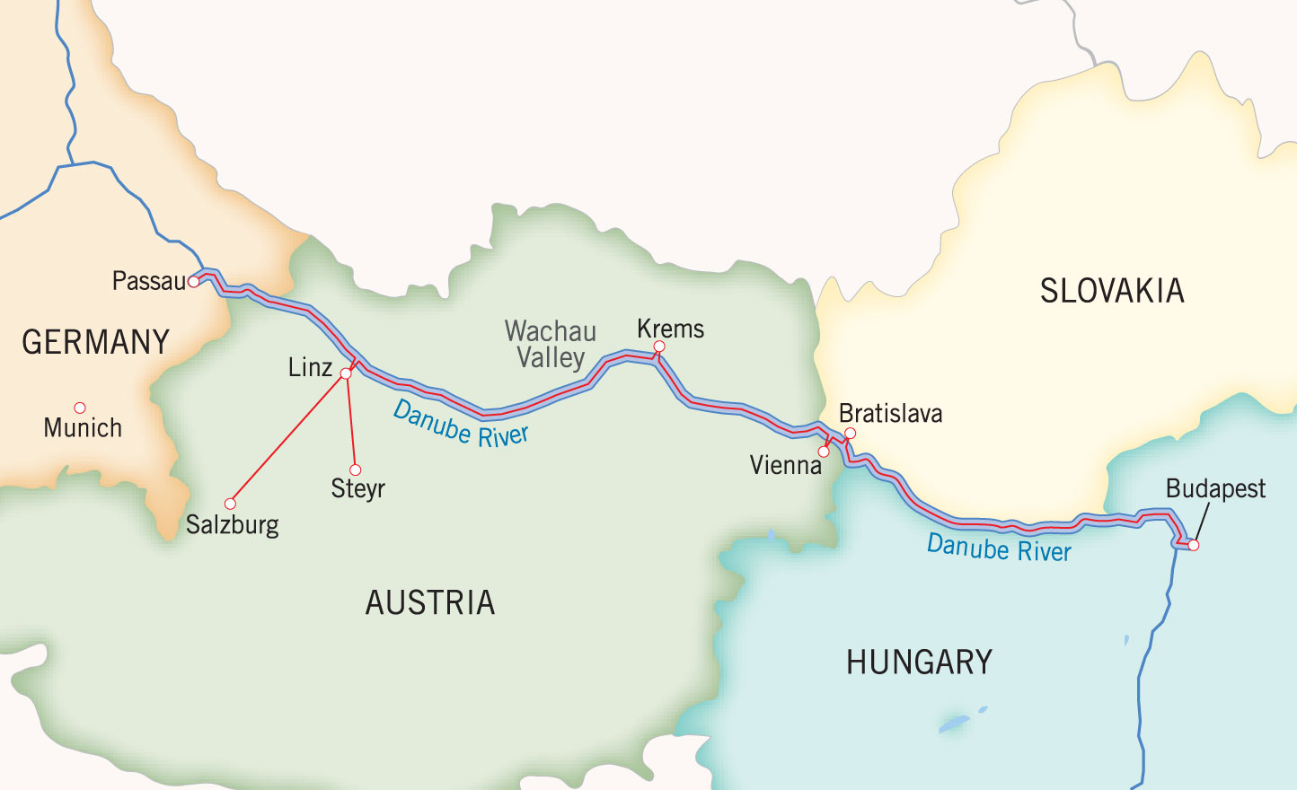 Danube Holiday Market Map
