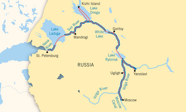 Russia River Map
