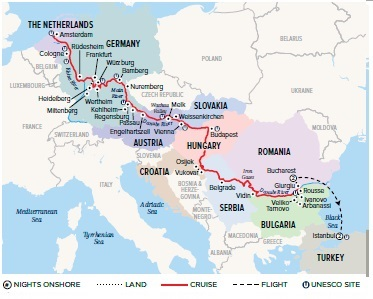 Ultimate European Journey map