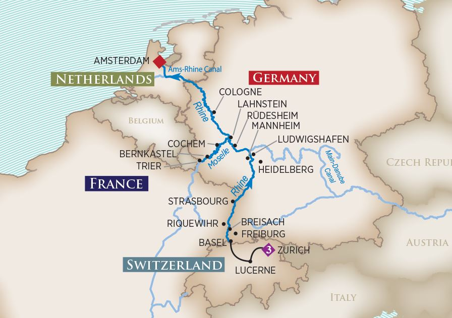 Rhine And Moselle 14 Days Zurich To Amsterdam