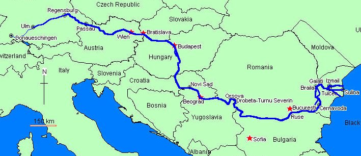Danube Waltz River Cruises Map Prague Pinterest: Map Of Danube River In Germany At Infoasik.co